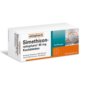 Abbildung: Simethicon ratiopharm 85 mg, 100 St.