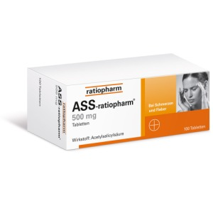 Abbildung: ASS ratiopharm 500 mg, 100 St