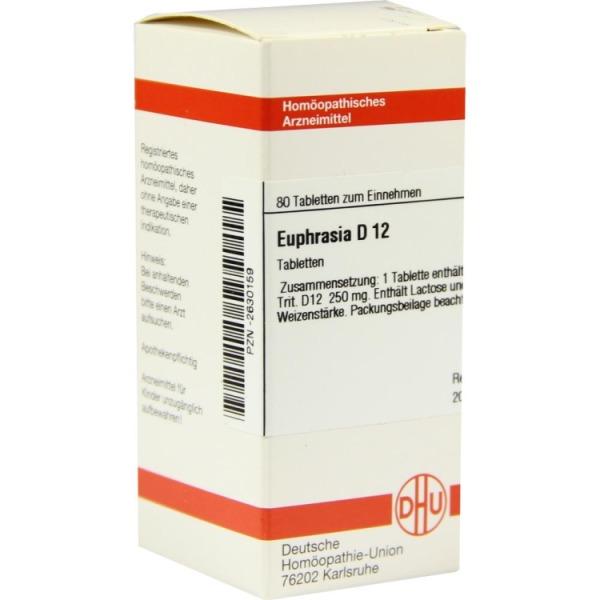 Euphrasia D 12 Tabletten 80 St