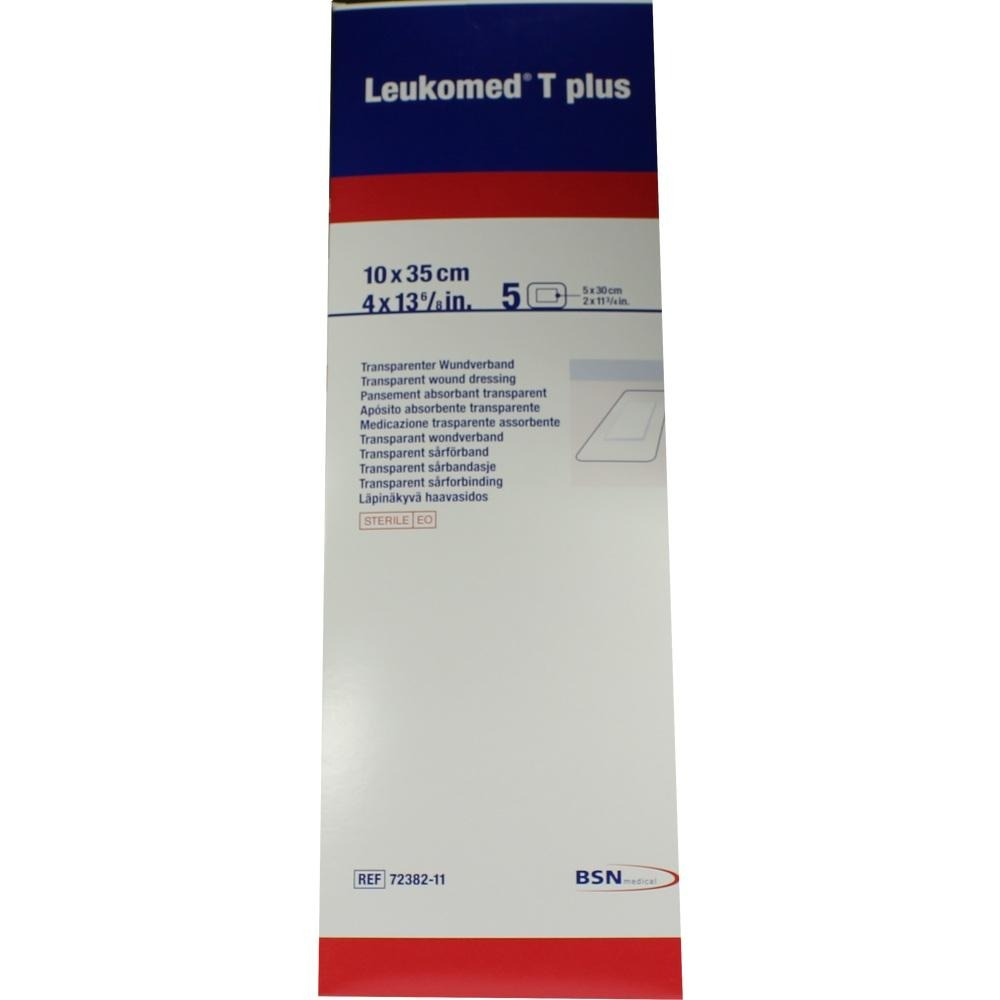 Leukomed Transp.plus Sterile Pflaster 10