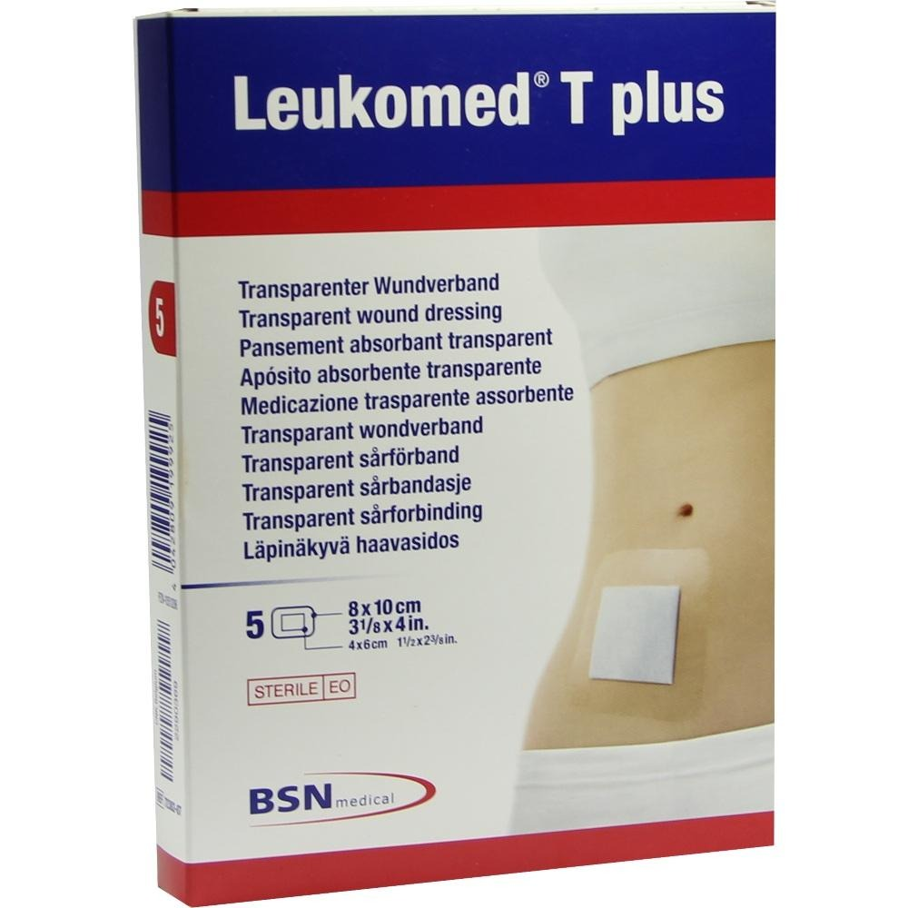 Leukomed Transp.plus Sterile Pflaster 8x